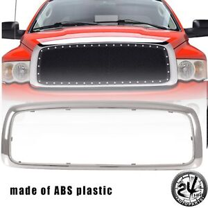 2003 2005 Dodge Ram 1500 2500 3500 Outer Grille Shell Chrome Abs Plastic Shell