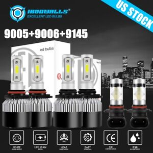 9005 9006 9145 Cob Led Headlight Bulbs For Jeep Grand Cherokee 2005 2010 6000k
