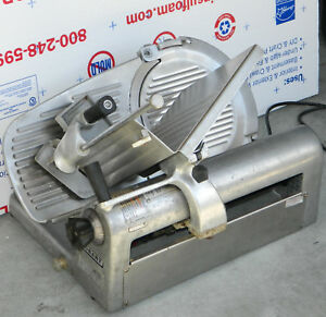 Hobart 1612e Commercial Deli Meat cheese Slicer Works Great But Tray Damaged