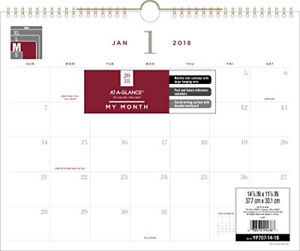 At a glance Monthly Wall Calendar January 2018 December 2018 14 7 8 X