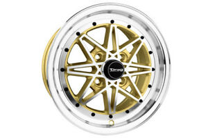 Drag Dr 20 Wheels Gold With Machined Face Dr20157261073gdm