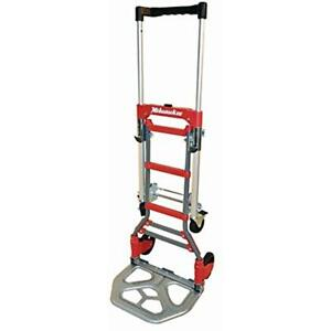 Milwaukee Hand Trucks 73333 2 In 1 Fold Up Convertible Material Handling