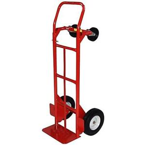 Milwaukee Hand Trucks 40180 Convertible With 10 inch Puncture Proof Tires Steel