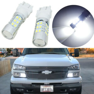 2 Hid White 27 Smd Led Car Truck Daytime Running Lights Drl Bulbs 3157 4114 4157