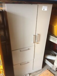 Allsteel Brand 2 Drawer 2 Door File Cabinet Locking High Quality 24 X 24 X 51 Hi