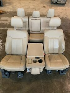 2012 Ford F250 F350 Ford Superduty Lariat Front Leather Bucket Seats W Console