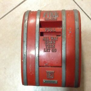Vintage Edwards Red Local Fire Alarm Pull Station Pull All The Way Down Lever