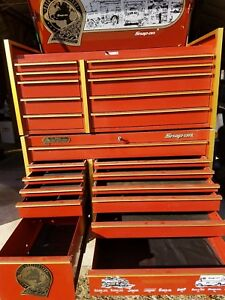 Snap on Top Bottom Tool Box 80th Anniversary Red Full Size Salisbury Md