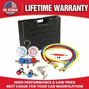 New Ac Refrigeration Kit A c Diagnostic Manifold Gauge Set Air For R12 R22 R134a