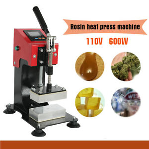 2000 Psi Professional Colophony Rosin Press Hand Crank Duel Heated Plates