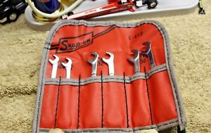 Snap on 6 Pc 15 60 Open End Offset Angle Ignition Wrench Set C65d Ds806ak