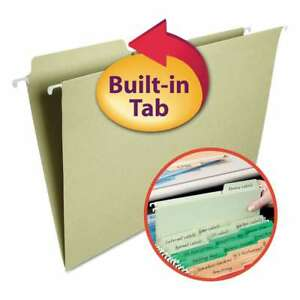 Smead Fastab Hanging File Folders 1 3 Tab Legal Moss Green 2 086486640831