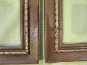 Lot 2 Pair Vintage Carved Gold Mcm Wood Tall Picture Frames Fits 10x20 1 8 Art
