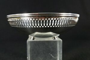 Tiffany Co Makers Sterling Silver Reticulated Footed Bowl