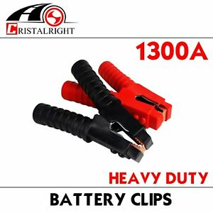 Pair 1300a Battery Clamp Charger Jumper Cable Anti Leakage Protection Device