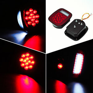 2pcs Universal Truck Boat 39 Led Stud Mount Combination Tail Light Review Light