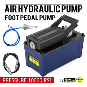 Air Powered Hydraulic Pump 10 000 Psi Rigging Auto Repair Foot Operated Pump