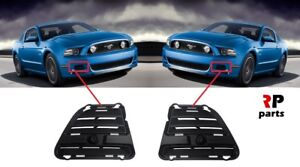 For Ford Mustang 2013 2015 New Front Bumper Foglight Cover Black Pair Set
