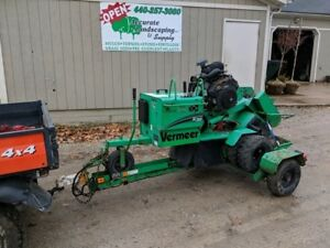 2013 Vermeer Sc 252 Stump Grinder With Trailer
