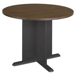 Round Office Conference Table In Sienna Walnut Finish id 320076