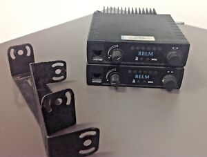 2 Relm Slv 40w Slv 40 Radios With Mounts Ham Tested Working
