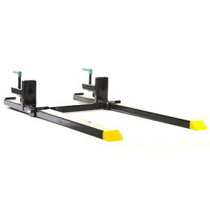 Titan 43 Hd Clamp On Pallet Forks 4 000 Lb Capacity W Stabilizer Bar