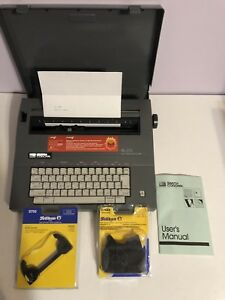 Smith Corona Sl575 Electronic Portable Typewriter Tested W Cover And Handbook