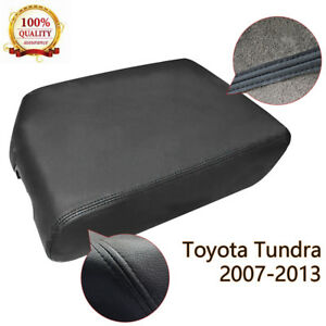 For Toyota Tundra Console Lid Armrest Center Cover 2007 2013 Microfiber Leather