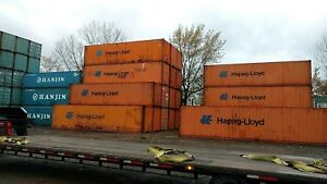 Deliver 40ft High Cube Shipping Container Conex Box Storage Chicago Grade C