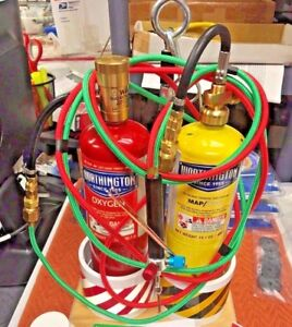 Welding And Brazing Kit The Little Torch Kit Full Map Gas Oxygen Tanks