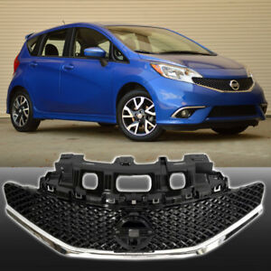 Fits For 14 16 Nissan Versa Front Sr Style Grill Gloss Black And Chrome Grille