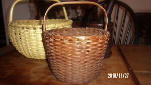 Aafa Small Splint Basket Antique Primitive Early Great Patina