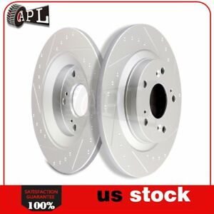Rear 282mm Brake Discs Rotors Kit For 2000 2001 2009 Honda S2000 2wd Slotted