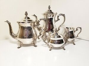 Vintage Leonard Silverplate Tea Coffee Service Party Showers Holiday Entertainon