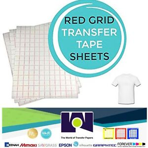 Red Grid Iron On Inkjet Transfer Paper For Light Fabrics T Shirt 100 Pk A4 Size