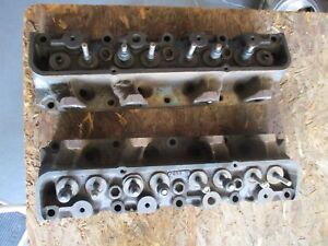 Pair Matching Numbers Fe Ford Cylinder Heads C1ae 6090 a 332 352 360 390 427 428