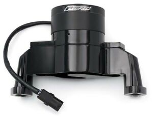Proform 66225bk Sb Chevy Black Aluminum Electric Water Pump With Hose Adapter