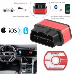Obd2 Obdii Auto Bluetooth V4 0 Diagnostic Scanner Tool For Ios Iphone Ipad New