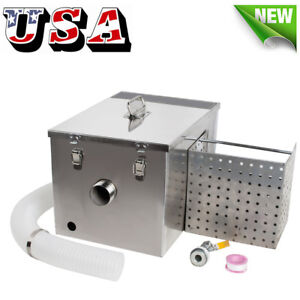 Commercial Stainless Steel Grease Trap Interceptor Set For Restaurant Kitchen Us