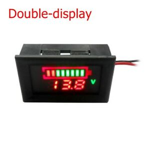 Parts Led Voltmeter Display Ammeter Power Capacity Battery Current Meter Tester