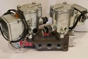 Double Solenoid Inline Pneumatic Valve L46529102 1 2 3 Way Schrader Scovill