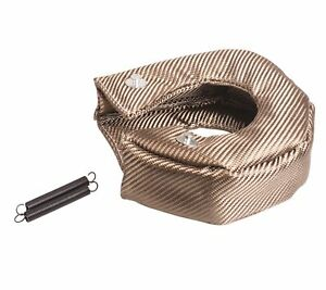 T4 Titanium Turbo Blanket Heat Shield Turbocharger Cover Wrap Natural Color Us