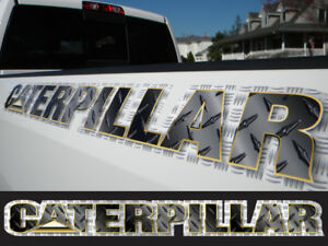 Caterpillar Decal Sticker Black Diamond Plate Windshield Window Tailgate