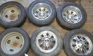 19 5 Weld Racing Wheels Rims 8 Lug 6 5 Dodge Ford Chevy Truck 1960 2010 Dually