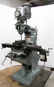 Bridgeport 2hp Variable Speed Mill 9 x42 Table Chrome Ways X axis Powerfeed