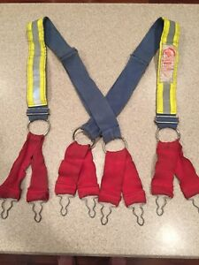 Morning Pride Honeywell Firefighter Suspenders Blue Size Regular Reflective