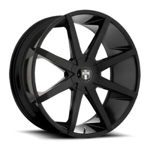 22x9 5 Dub S110 Push Gloss Black Wheels 6x135 6x5 5 30mm Set Of 4