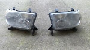 2007 2013 Toyota Sequoia Tundra Left Right Headlights Pair Oem