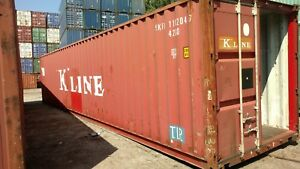 40ft Standard Shipping Container Conex Box Storage Chicago Cargo Worthy Grade 2