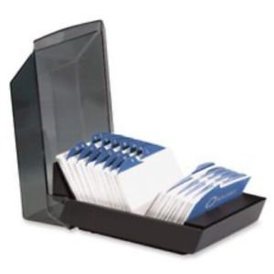 Rolodex 67012 Rolodex Covered Business Card File 500 2 1 4x4 Cards 24 A z